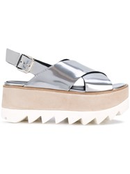 Premiata Flatform Sandals Women Leather Rubber 39 Metallic