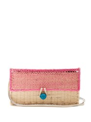 Sophie Anderson Romina Toquilla Straw Cross Body Bag Pink Multi