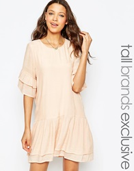 Y.A.S Tall Double Frill Dress Pink