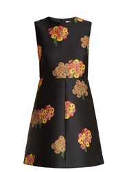Red Valentino Floral Brocade Mini Dress Black Multi