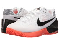 Nike Zoom Cage 2 White Black Hyper Orange Women's Tennis Shoes Blue