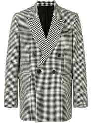 Ami Alexandre Mattiussi Lined Oversize Double Breasted Blazer Black