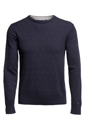 Tommy Hilfiger Men's Mini Jacquard Jumper Navy