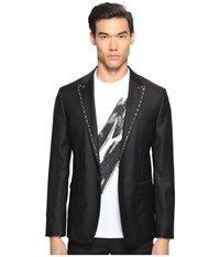 Dsquared Glam Rock Silk Wool Blazer Black Men's Jacket