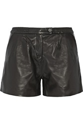 Karl Lagerfeld Eden Leather Shorts Black