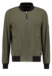 Religion Object Bomber Jacket Khaki