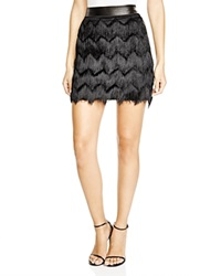 Rebecca Minkoff Humboldt Fringed Mini Skirt Black