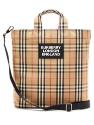 Burberry Artle Vintage Check Tote Bag Beige