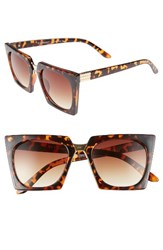 A. J. Morgan Women's A.J. Cropduster 52Mm Sunglasses Tortoise