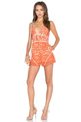 Nbd Out Of Touch Romper Orange