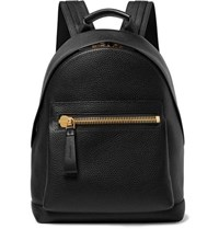 Tom Ford Full Grain Leather Backpack Black