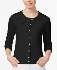 Maison Jules Bow Cardigan Only At Macy's Deep Black