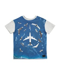 Molo Ripo Fly In Peace Short Sleeve T Shirt Size 4 10 Multi