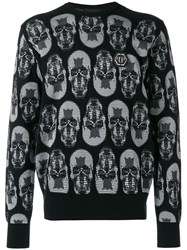 Philipp Plein See You Jumper Cotton Viscose Grey