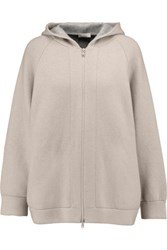 Brunello Cucinelli Cashmere Hooded Top Light Gray