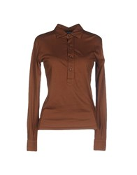 Ralph Lauren Topwear Polo Shirts Women Brown