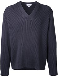 H Beauty And Youth Ribbed Detail Jumper Grey