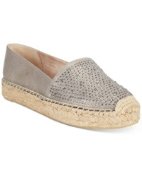 White Mountain Harmonize Espadrille Platform Flats Women's Shoes Gunmetal Grey
