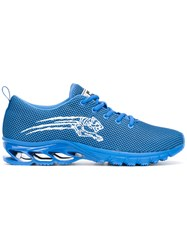 Plein Sport Lace Up Sneakers Blue