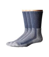 Thorlos Light Hiker Crew 3 Pair Pack Denim Crew Cut Socks Shoes Blue