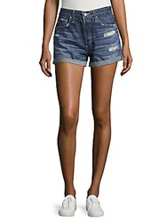 Ag Adriano Goldschmied Cotton Denim Shorts 15 Year Aerial