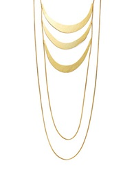 Herve Van Der Straeten Tiered Bib Necklace Gold
