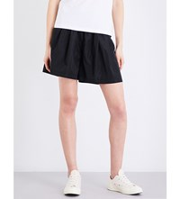 Chocoolate Wide High Rise Shell Shorts Black