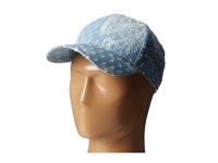 Steve Madden Distressed Denim Baseball Cap Light Blue Baseball Caps