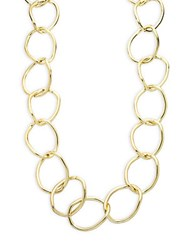 Kenneth Jay Lane Oversized Link Necklace Gold