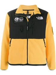 The North Face Shell Panelled Fleece Jacket Yellow