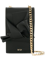 N 21 No21 Abstract Bow Cellphone Bag Black