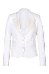 Neil Barrett Stretch Cotton Cropped Blazer Vest White