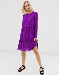 Minimum Moves By Sheer Dress Purple