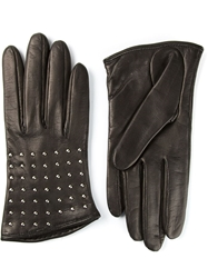 Alexander Mcqueen Studded Gloves Black
