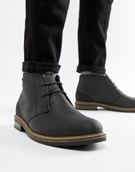 Barbour Readhead Leather Lace Up Mid Boots In Black