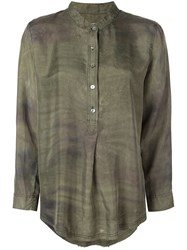 Raquel Allegra Army Camo Shirt Green