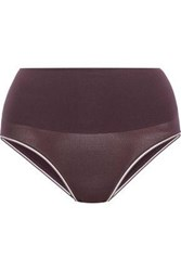 Yummie Tummie By Heather Thomson Woman Ultralight Seamless Shaping Stretch High Rise Briefs Grape