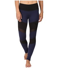 Puma Mix Material Tights Peacoat Black Women's Casual Pants Blue