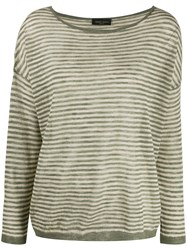 Roberto Collina Striped Knitted Top 60