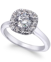 X3 Certified Diamond Halo Engagement Ring 1 3 8 Ct. T.W. In 18K White Gold Only At Macy's
