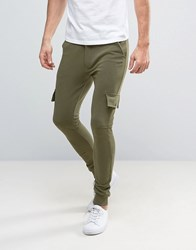 Only And Sons Skinny Fit Cargo Trouser In Sweat Khaki Green