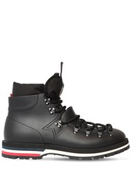 Moncler Henoc Leather Lace Up Boots Black