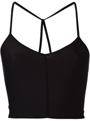 Ann Demeulemeester Tie Back Cropped Top Black
