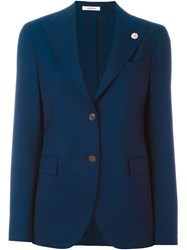 Lardini Flower Detail Blazer Blue