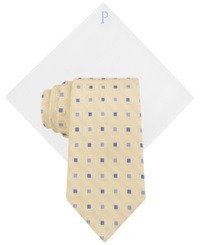 Club Room Cubicle Neat Tie And Solid Pocket Square Set