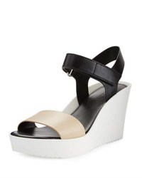Charles By Charles David Camp Leather Colorblock Sandal Black