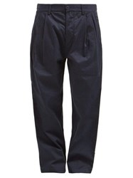 Maharishi Relaxed Leg Cotton Twill Chino Trousers Navy