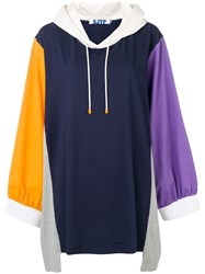 Sjyp Multipatched Hoodie Dress Blue