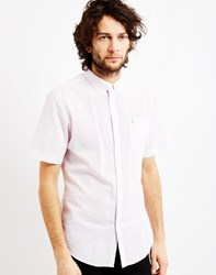 Farah Sloane Short Sleeve Button Down Light Pink