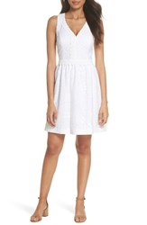 Lilly Pulitzer Litzia Lace Dress Resort White Mocean Lace